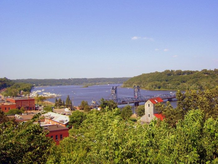5. The views of the St. Croix and town of Stillwater are beautiful from the hilly roads.