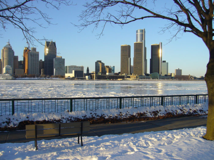 According to U.S. Climate Data, Michigan's coldest  month is January, when temperatures plummet to an average of only 17 degrees Fahrenheit. The average high? Just 30 degrees.