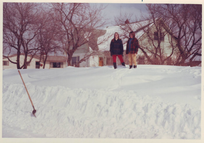 2. A hefty amount of snow after a blizzard in Dunseith, 1969