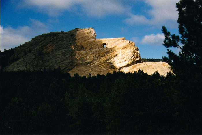 4. The world's largest manmade sculpture-to-be, Crazy Horse Memorial