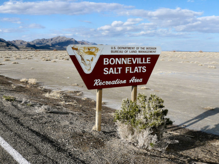 Visit the salt flats by parking at the rest stop 10 miles east of Wendover. You'll find restrooms, plenty of parking and a water spray station to rinse the salt off yourself after you're done playing.