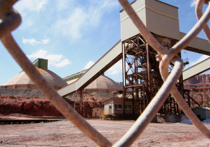 Intrepid Potash owns a mine here that produces potassium chloride - also known as potash.