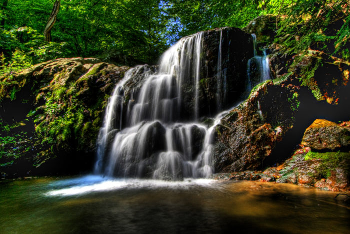 You can find Cascade Falls here, which is one of Maryland's most beautiful waterfalls.