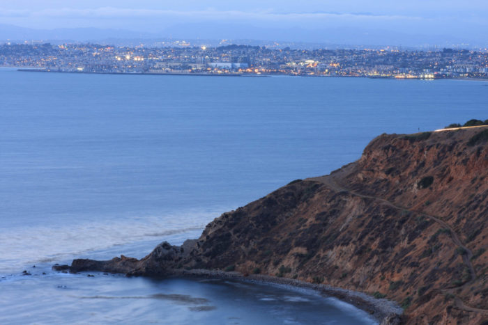 """""""This is from south of Malaga Cove looking towards Redondo Beach harbor (king harbor)"""""""