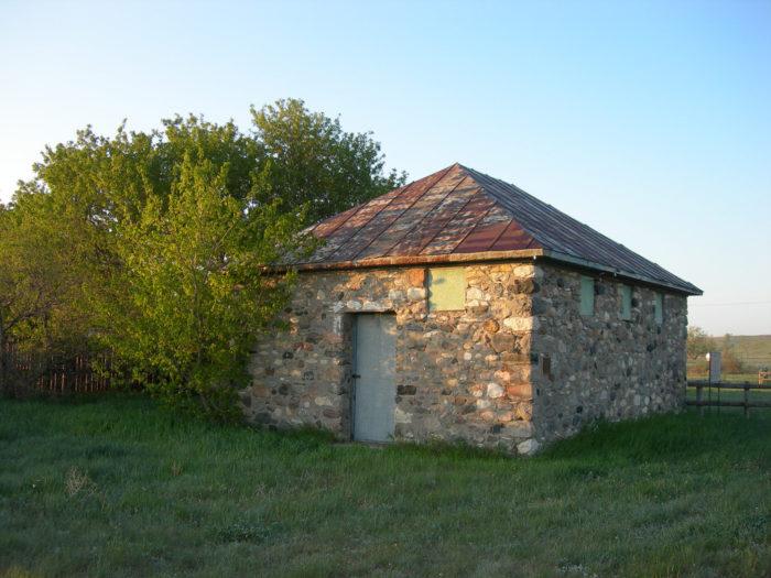 8. Schafer, North Dakota has long since been left, but this old jailhouse still stands.