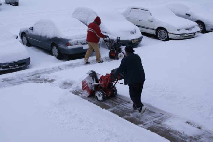 7. You've found yourself unknowingly engaged in a snow clearing race with a neighbor.