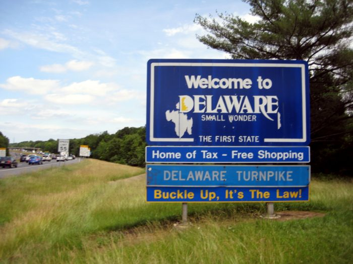 9. You've accidentally ended up in Delaware.