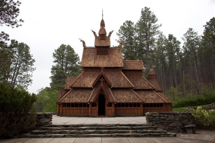 The Chapel in the Hills is a replica of the Borgund Stavkirke, which is located in Norway.