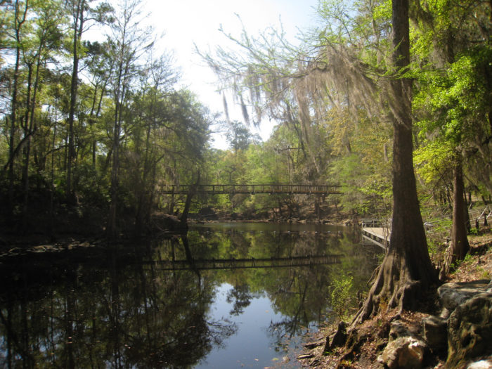 O'Leno State Park, pictured here, is one of the oldest state parks in Florida.