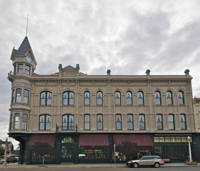 """The Geiser Grand opened (as Hotel Warshauer) in 1889 and operated until 1968. During the Gold Rush, it was regarded as one of the finest hotels in the West and was nicknamed the """"Queen of the Mines."""""""
