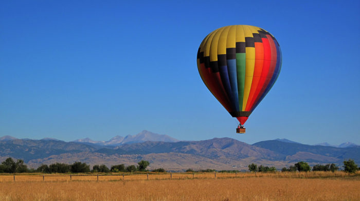 12. Or maybe you'd prefer to get high in a hot air balloon ride over the Front Range.