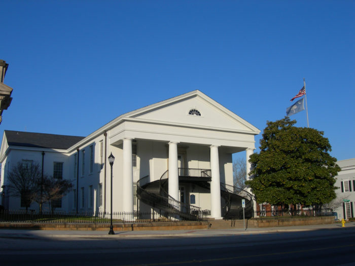 13. The Fairfield County Courthouse in Winnsboro.