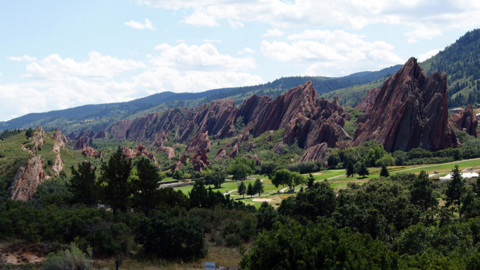 These 290 million year-old rock formations are part of the Fountain Formation, which was lifted and tilted into flatirons between 35 and 80 million years ago.