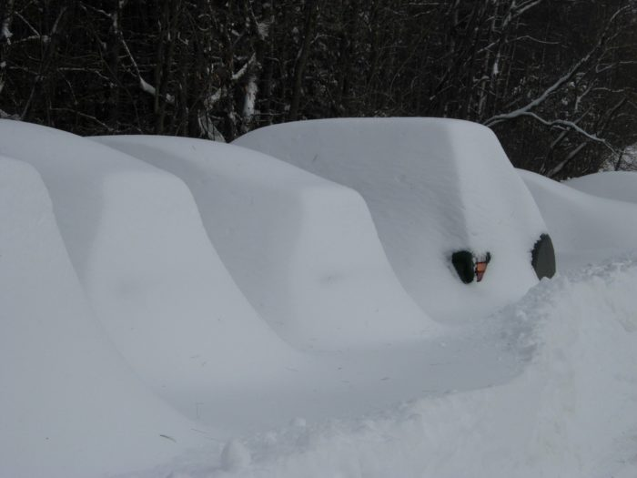 "So, who's ready for the annual game of ""Which gigantic blob of snow is my car trapped within?"""
