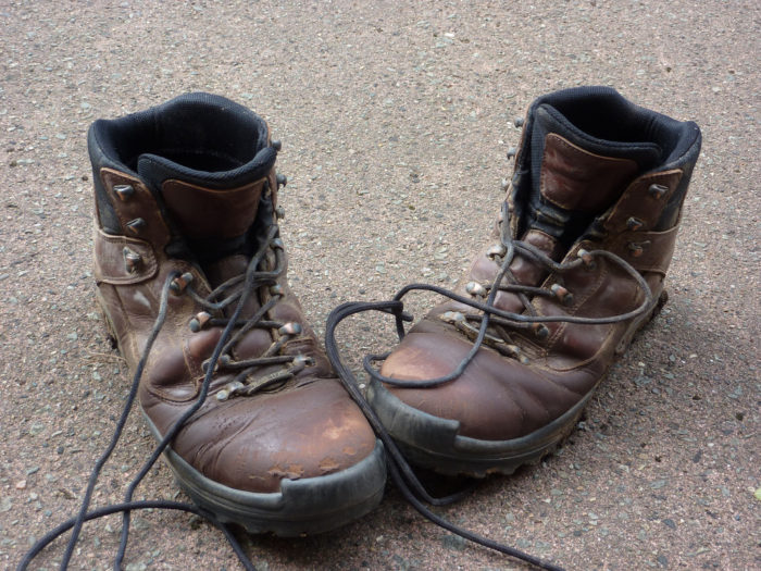 12. You've worn hiking boots to a restaurant...