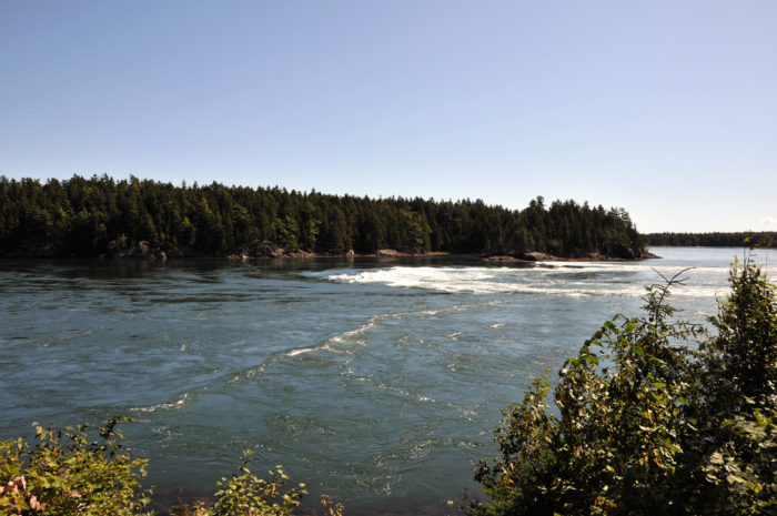 Stop #9: Next, you're headed to the interesting Reversing Falls in West Pembroke.
