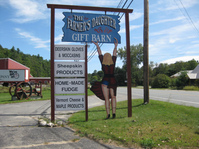 Who can resist a stop at the Farmer's Daughter Gift Barn on the way?