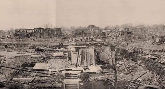 The storm took hundreds of lives and left Tupelo in a state of utter devastation.