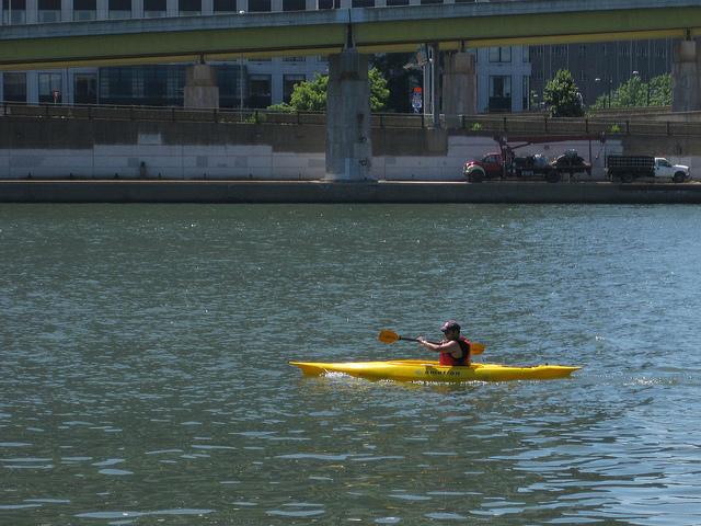 4. Kayak down the river.