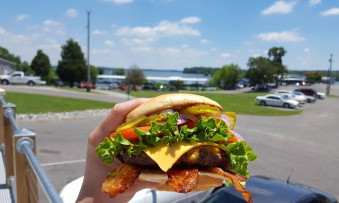 4. Ralph's burger.