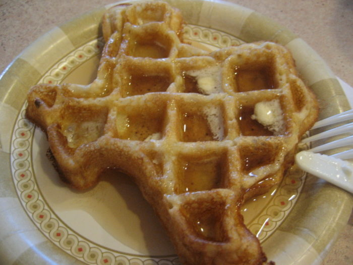 9. Eaten food in the shape of Texas. (Imagine a Colorado shaped waffle. It would just be a square. Bo-ring.)
