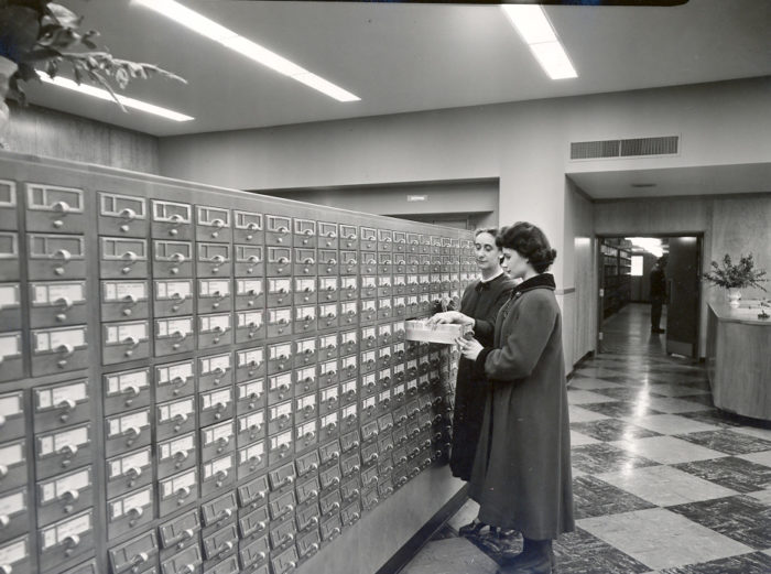 13. Central Library Card Catalog, 1954