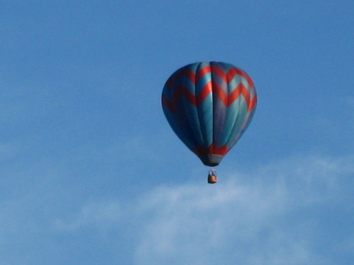 12. Enjoy the views from a hot air balloon ride over Woodstock