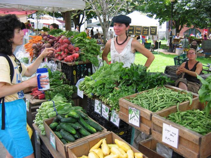 1.  Shop at a farmers market.