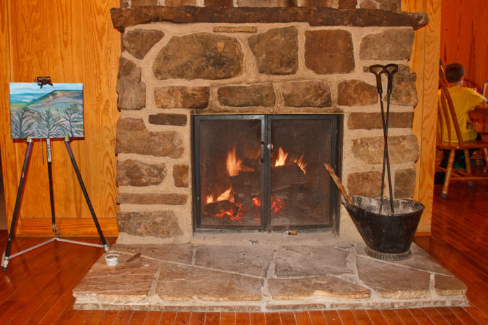 8. Curl up in a cabin at Mount Nebo State Park.