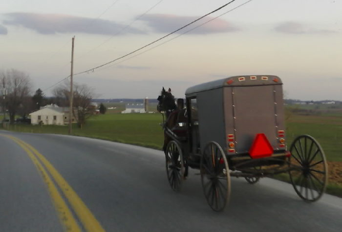 9. You've legitimately been late to work, school or a special event because you got caught behind an Amish buggy.