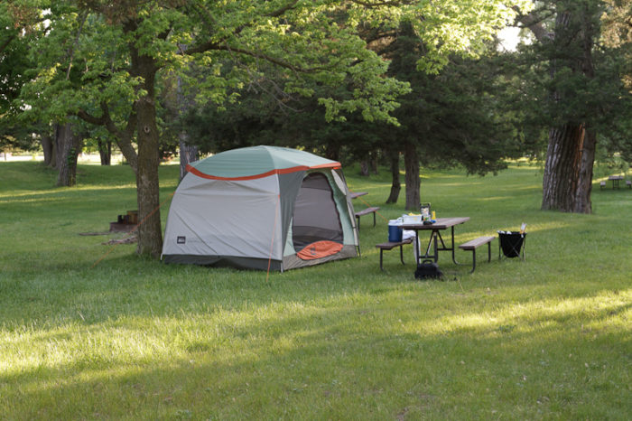 5. Go camping.