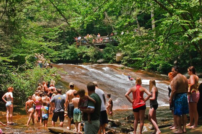 11. Get a dose of adrenaline at North Carolina's natural waterslide, Sliding Rock.