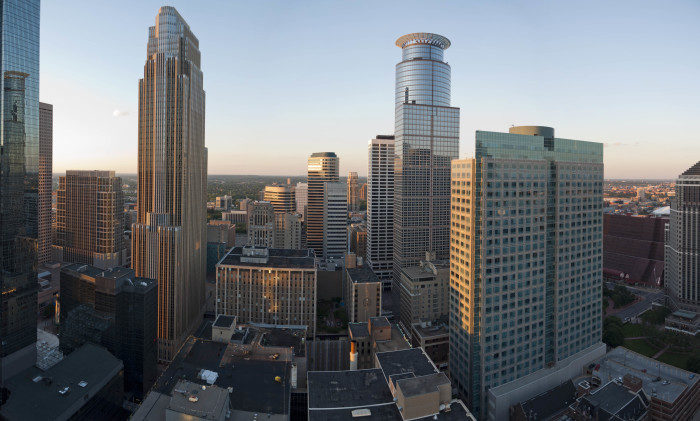 2. Another amazing Minneapolis view can be found by riding the elevator up to Foshay Tower!