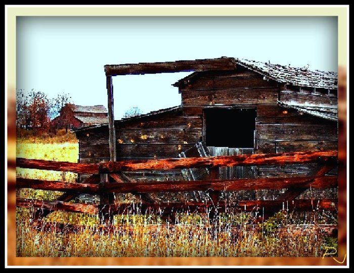 7. This old abandon barn sits in the Bitterroot Valley near Stevensville.
