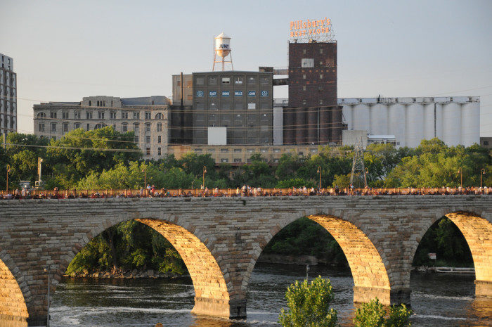 1. The views of Minneapolis from the Stone Arch Bridge are truly stunning, and you can even see them from the nearby parking lot!