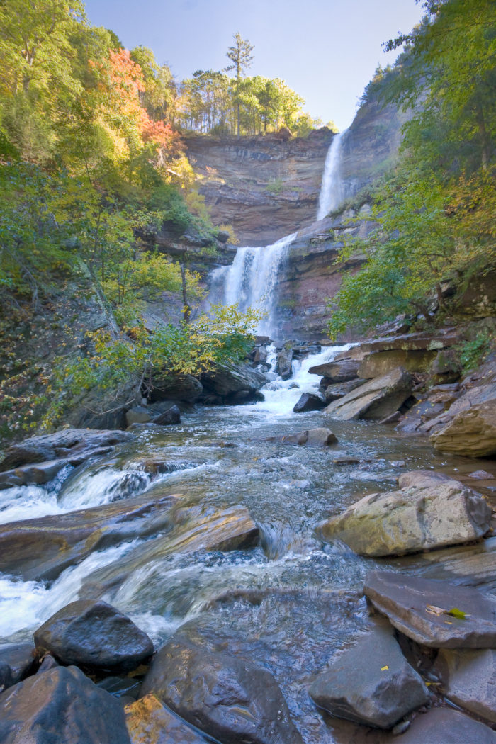 After hardly any time at all, you'll find yourself amazed and standing right before Kaaterskill Falls.