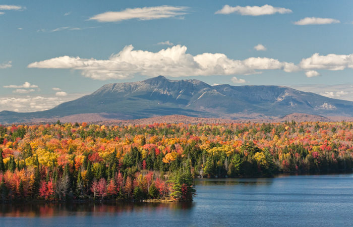 Stop #7: In the morning, gaze up at the view of Mount Katahdin in Baxter State Park.