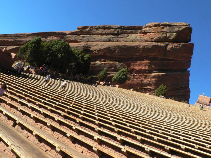 11. Be a wimp about the stairs at Red Rocks.