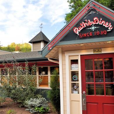 Ruth's Diner is located about one mile from the mouth of Emigration Canyon.