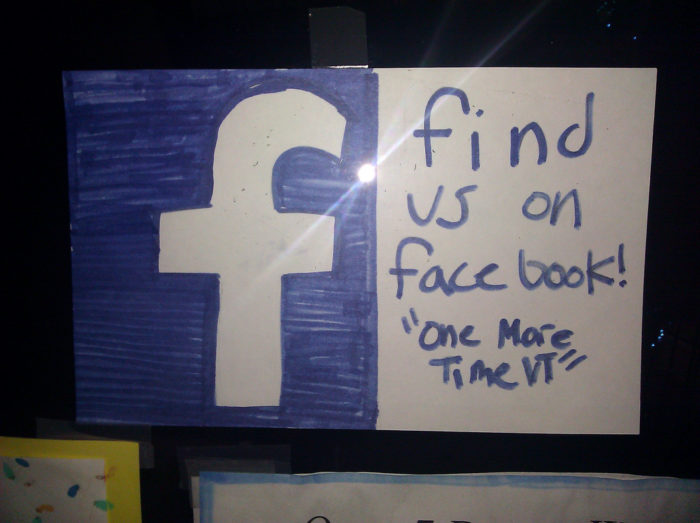 So if you see a homemade sign like this in a store window...