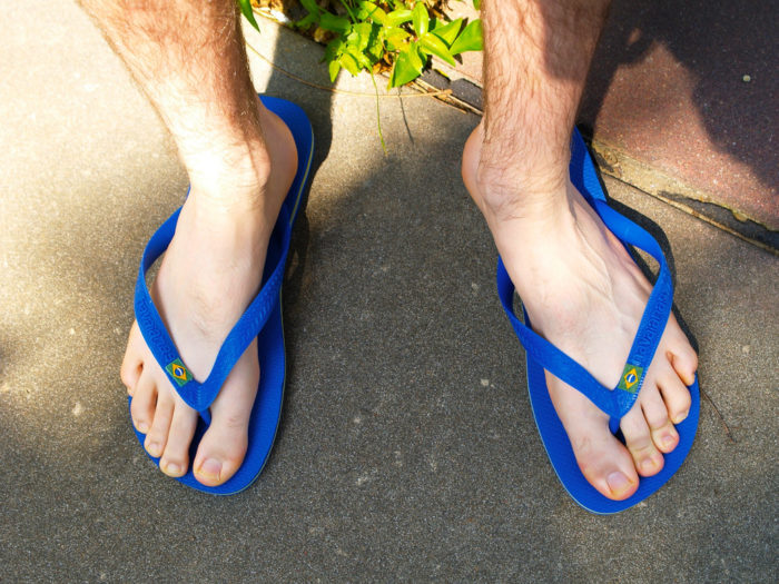 8. As soon as the weather hit 60 degrees, you've put on your flip flops and tank top and ran outside.