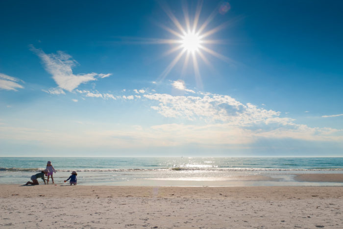 7:00 a.m. to 8:00 a.m.: Let's begin early in the morning, at one of the most beautiful beaches in Florida, on Siesta Key.