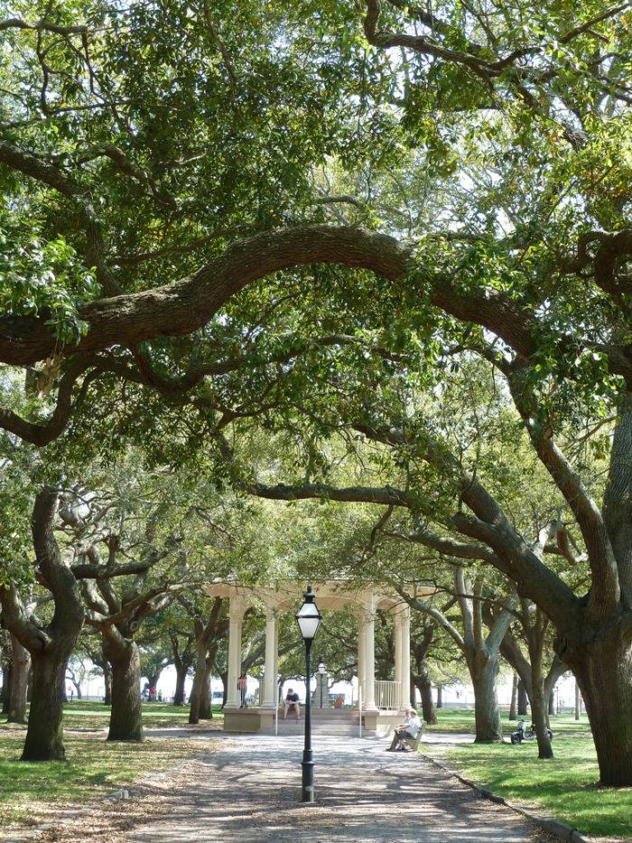 10. White Point Gardens in Charleston.
