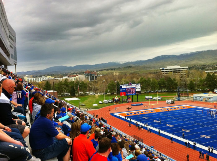 13. Go on and on about Boise State football.
