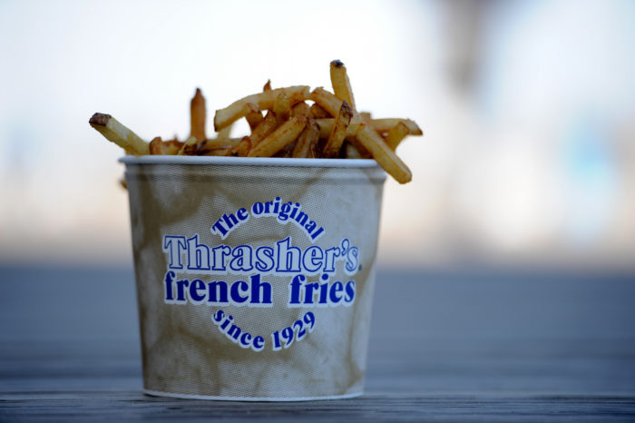 1. Eat a bucket of Thrasher's fries.