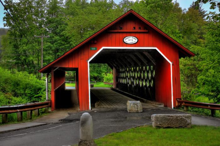 6.  Beautiful covered bridges.