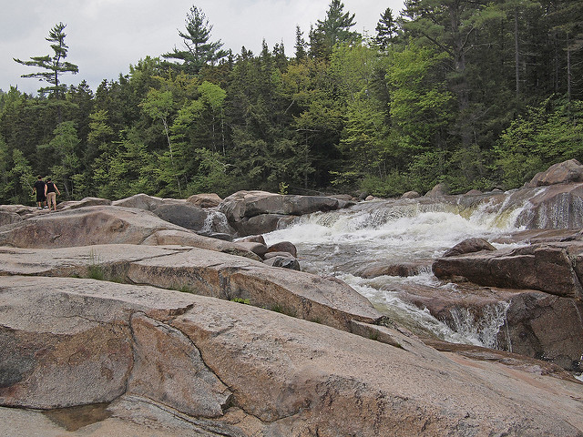 4. Take a plunge in a waterfall swimming hole, like the Lower Falls in Albany.