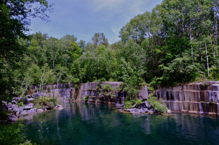 7.  Go swimming at a quarry.