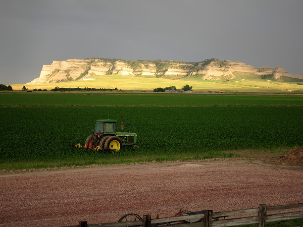13. A view of the field - and the Scotts Bluff monument - from Barn Anew B&B in Scottsbluff.