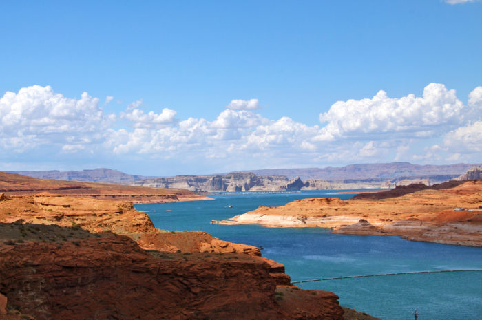 According to the Bureau of Reclamation, in some places, the water is so clear that it reflects the sky. On a sunny day, Lake Powell is a gorgeous deep blue color!